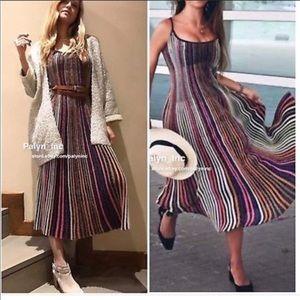 Zara metallic Striped dress
